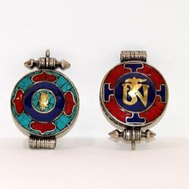 Colgmet128- Medallón (Gau) om mane pedreria