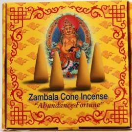 "Incienso tibetano en conos ""Zambala""- Abundancia- Fortuna"
