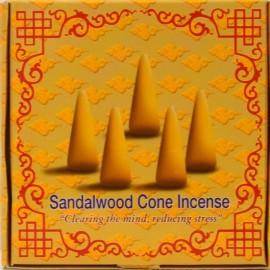 """Incienso tibetano en conos """"Sándalo"""" - Claridad de mente, reducción de estrés."""