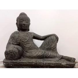 Buda recostado de piedra- 37 cms. largo