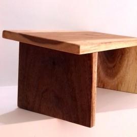 Banco de meditación madera de Mahogany