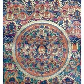 Mandala con brocado mediano- calidad- tk387