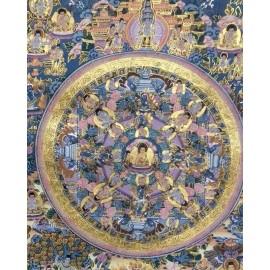 Mandala con brocado mediano- calidad- tk389