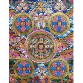 Mandala con brocado mediano- calidad tk391