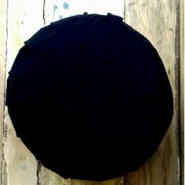 Zafu cáscara espelta ecológica. Negro. Mediano