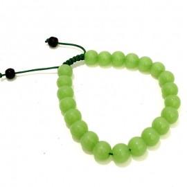 Pulsera de cristal verde