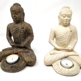 Buda de piedra 21 cms. porta velas