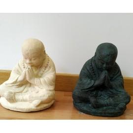 Monje Saolin piedra 20 cms.