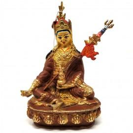 Padmasambhava cobre y oro 15 cms.