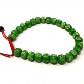 Pulsera de hueso grabado verde