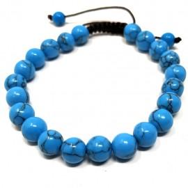 Pulsera de Howlita azul