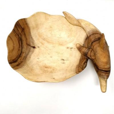 Fuente delfín de madera