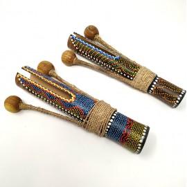 Maraca de bambú colores