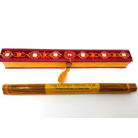 "Caja de incienso bordada ""Nag champa tibetan style"""