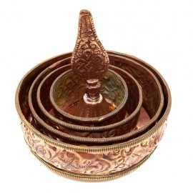 Mandala cobre 10 cms. diametro