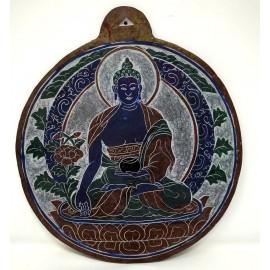 Piedra tallada Buda de la Medicina 23 cms.