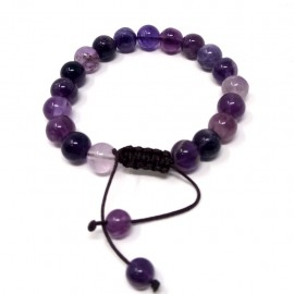 Pulsera de Fluorita púrpura