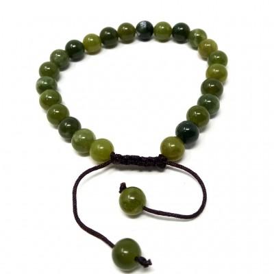 Pulsera de jade oscuro 6 mms.