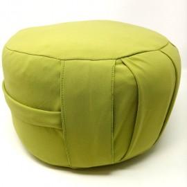 Zafu. Cáscara espelta ecológica. Verde pistacho. Mediano