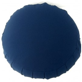Zafu Cáscara espelta ecológica. Azul marino extra grande