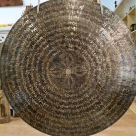 """Wind gong 60 cms- """"Om mane- doble dorje"""""""