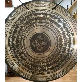 "Gong nepalí 37,5 cms. ""Doble dorje- Om mane"""
