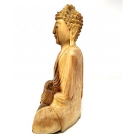 Buda de madera 25 cms.- Dhyana muera