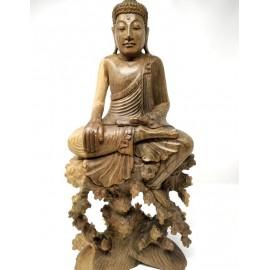 Buda de madera de Hibisco- 45 cms.