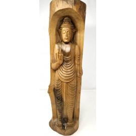 Buda en tronco de madera 40 cms.