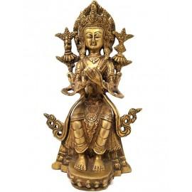 Maitreya de bronce- 23 cms.