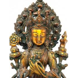 Maitreya de bronce- 28,5 cms.