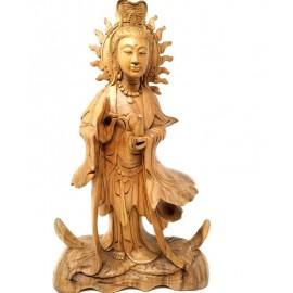 Guan Yin madera- 40 cms.