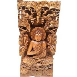 Talla de Buda en el bosque- 40 cms.