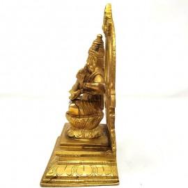 Saraswati de bronce- 18 cms.