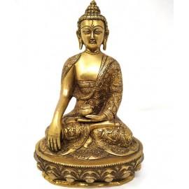 Shakiamuni de bronce de 26 cms.