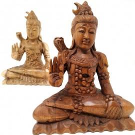 Shiva de madera- 25 cms.