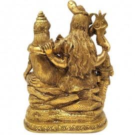 Familia de shiva de bronce- 18 cms.
