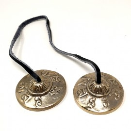 Tingsha pequeño bronce- calidad- 5 cms.