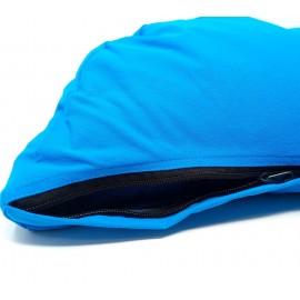 Zafu cáscara esbelta ecológica. Azul. Media luna