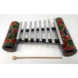 Xilófono de bambú de 8 tubos
