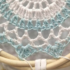 Atrapasueños Mandala ratán Apas10- 40 x 17 cms.