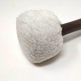 Maza de golpeo acolchada blanca 24 x 5,5 cms.