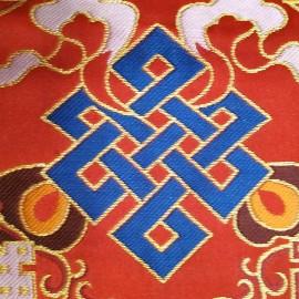 """Tela altar cuadrada """"Signos auspiciosos"""" 35 x 35 cms."""