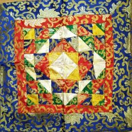 "Tela altar cuadrada ""Mandala"" 45 x 45 cms."
