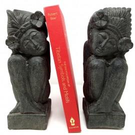 Separador de libros de piedra (set 2 piezas)
