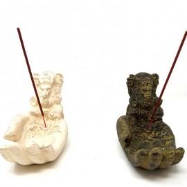 Incensario mano de Ganesh en piedra